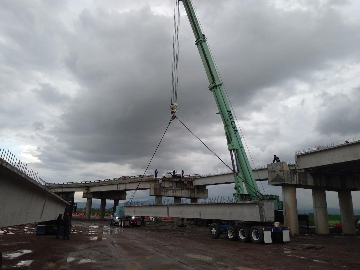 Montaje de puente Nabor Carrillo, Texcoco